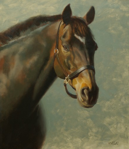 Oil painting of horse Patrick