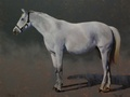 Oil painting of a broodmare, Pier 66.