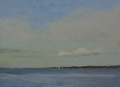 An oil painting done on the beach at Carkeek Park in Ballard, Seattle WA.