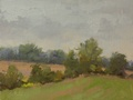 An oil painting done on location at Trough Hill Farm in Middleburg, VA.