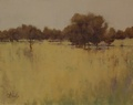 Oil painting of the fields at Faraway Farm in Upperville, VA.