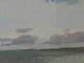 A plein air painting done on location at Golden Beach Park in Ballad, Seattle.