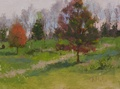 Plein air oil painting of Weatherlea Farm in Lovettsville, VA.