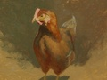 A painting of a chicken at Willow Hawk Farm in Lovettsville, VA