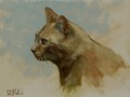 Oil painting of Shakespeare the Cat