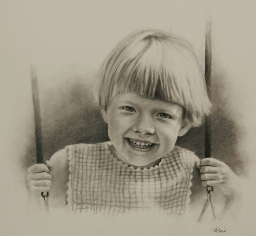 Pencil portrait of Catherine by Simon Bland