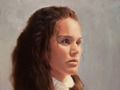 Oil portrait of Kate painted from life by Simon Bland