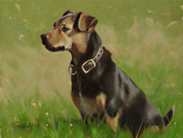 Oil painting of jack russell terrier Cracker