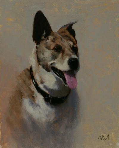 Oil painting portrait of Nikko
