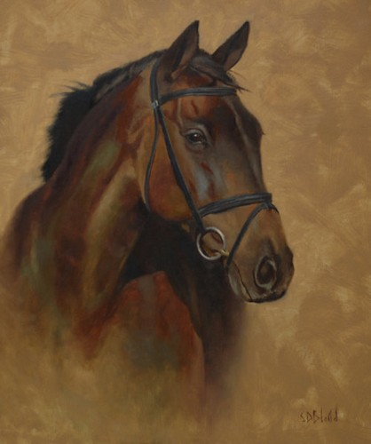 Oil painting of horse Jake