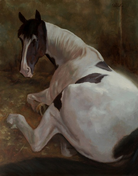 Oil painting of horse Topper