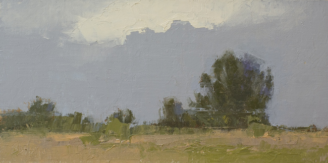 A small plein air landscape done at Discovery Park in Seattle, WA by artist Simon Bland