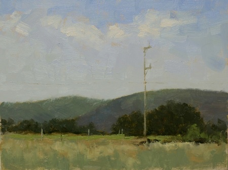 Plein Air Oil painting of East Lynn farm in Round Hill, VA