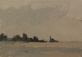 Painting of Alki Point lighthouse in West Seattle