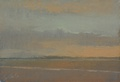 A painting of the sunset by artist Simon Bland