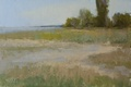 A plein air painting done at a local beach by artist Simon Bland