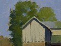 Painting by Simon Bland sold: Oil painting of Oakland Green Farm Lincoln, VA