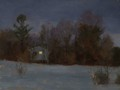 Painting by Simon Bland sold: Oil painting, nocturne at Sierra Lane, Lovettsville, VA