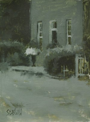 Oil painting sketch of Waterford, VA