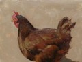 Painting by Simon Bland: Chicken Friday.
