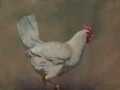 Painting by Simon Bland: Chicken Thursday.