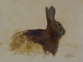 Painting by Simon Bland: Oil painting of a rabbit