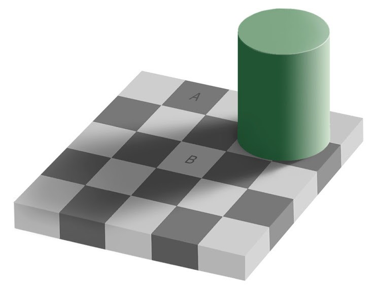 The illusion of values in shadow areas