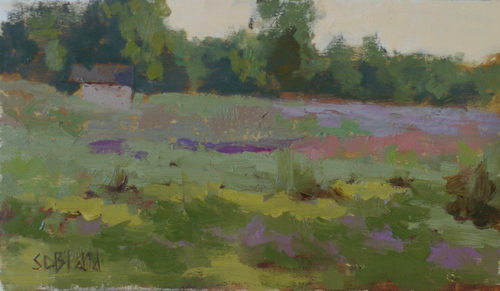 This plein air painting was done in an impressionistic style