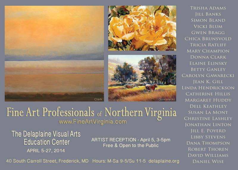 Flyer for Fine Art Professionals of Northern Virginia
