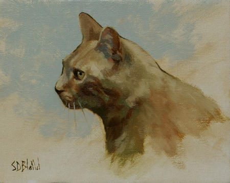 A Sketch Portrait of Shakespeare the Cat