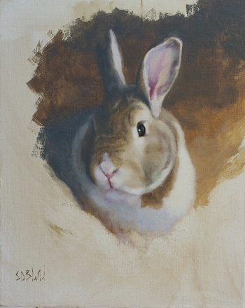 Painting of a bunny WIP