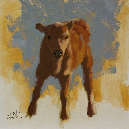 Painting of a calf