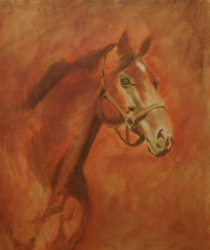 Painting of a horse WIP