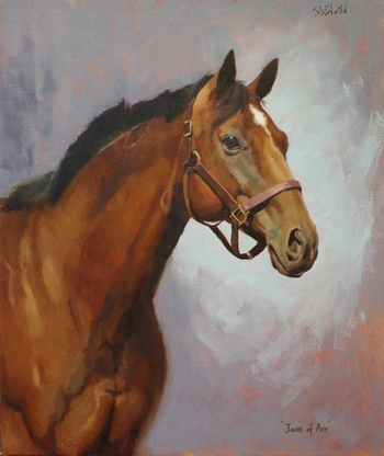 Completed painting of the horse