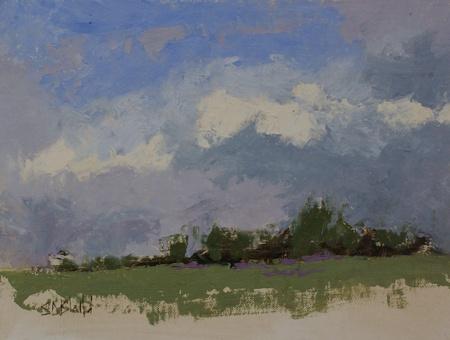 Plein air painting at a lavender farm