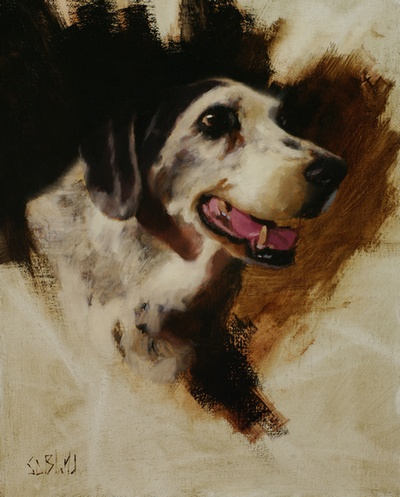 Completed portrait of Molly