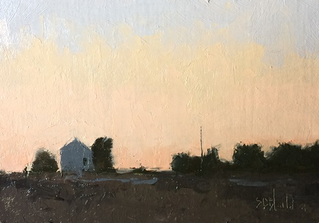 Painting of the sunset
