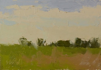 Plein air painting of the sky over Upperville VA