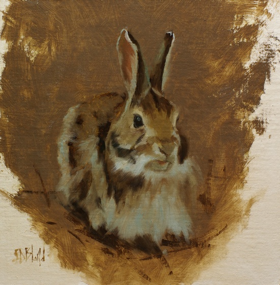 A painting of a rabbit