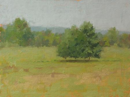 Plein air painting at Wind Field Farm