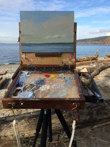 Plein air painting at Carkeek Park