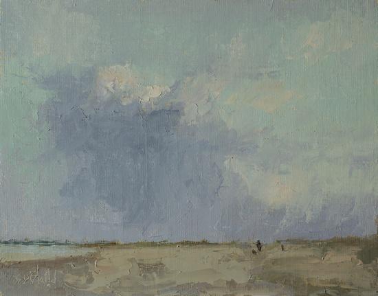 Golden Gardens Beach - a painting by Simon Bland