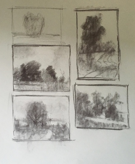 Charcoal Studies - Working Through Ideas Part I