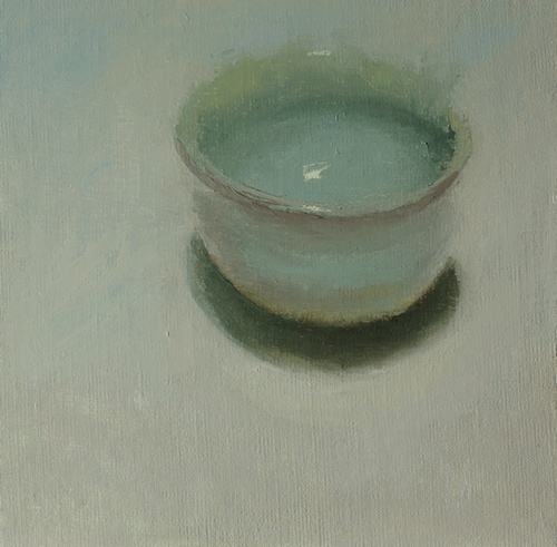 Japanese Tea Bowl. 8x8, oil on linen panel. 2016
