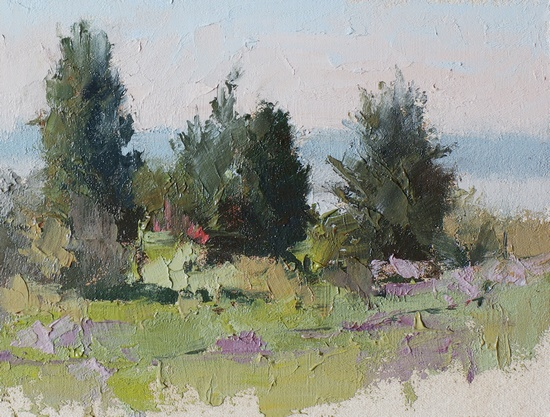 Plein air painting done at Discovery Park