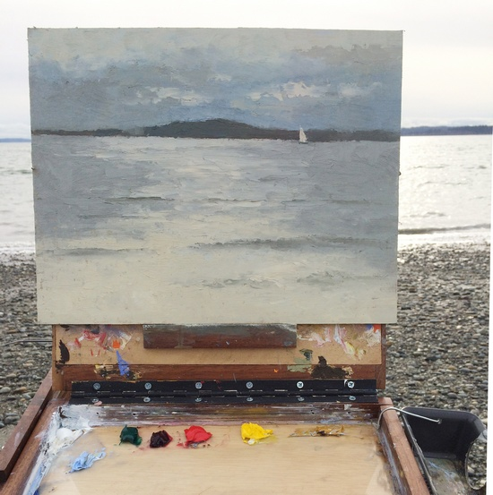 Plein air painting at Discovery Park
