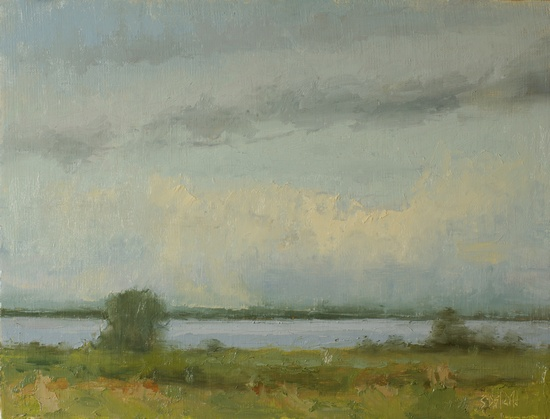 Edge of the Sound - a plein air painting