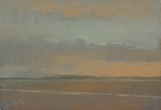 Impressions of the Sunset. 5x7, oil on linen panel. 2016
