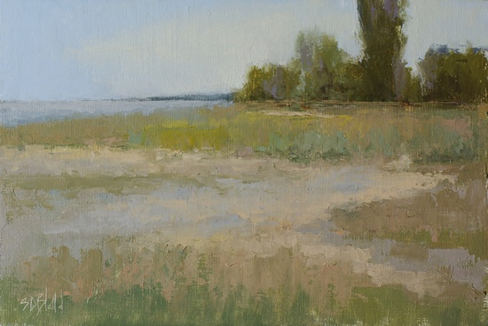 In the Dunes (plein air). 7x11, oil on linen panel. 2016
