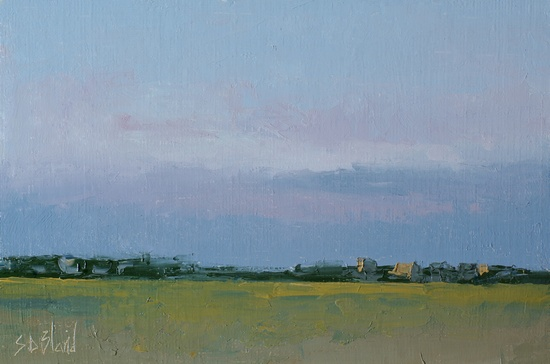 Late Evening. 6x9, oil on linen panel. 2016